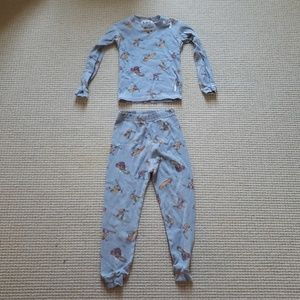 At Home snowboarder cotton PJs size 5